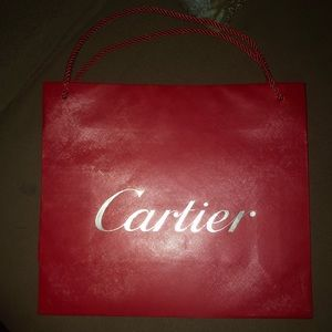 Cartier Shopping paper bag -Red